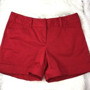 The Limited Drew fit red shorts size 6